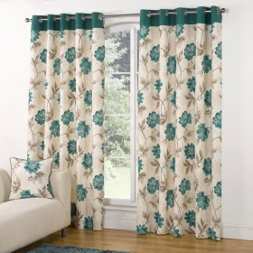 Casa-Foral-Trail-Teal-Green-Curtains